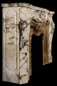 marble mantel fireplace design