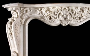 gothic fireplace mantel